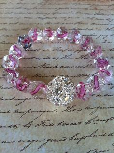 Stretchy Breast Cancer Awareness Bracelet