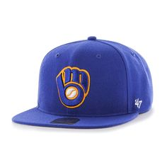 0c576d8d9d7 Milwaukee Brewers Sure Shot Royal 47 Brand Adjustable Hat. Detroit GameMilwaukee  BrewersSnapbackMlbBaseball HatsShotsBaseball ...