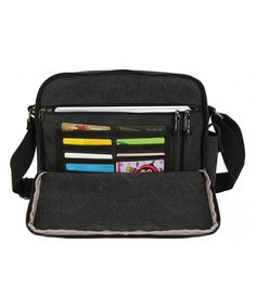 a016a630b75c Men s Canvas Messenger Bag Shoulder Bag Crossbody Bag (Black) - Black -  CD185DXADCL