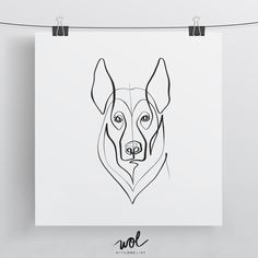 German Shepherd Dog Limited Edition Print 8x8 by WithOneLine