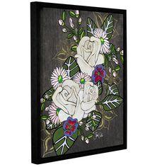 World Menagerie Botanical I Framed Painting Print on Wrapped Canvas Size: