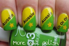 30 days of world cup nails! I always root for Aus, where I grew up and where my heart belongs (socceroos dont let us down!)  Follow us for more posts like this! ♥ Agoraphobix Www.agoraphobix.com