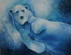 Polar Bear oil painting by Sierra Briggs