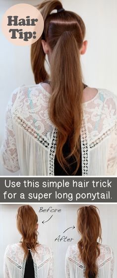 Fake a Super Long Ponytail