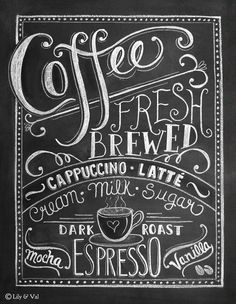 Coffee Love Chalkboard Art Print