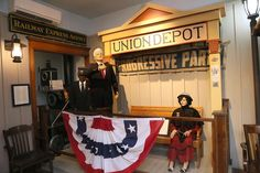 The Union Depot display at the Chudnow Museum of Yesteryear shows former Wisconsin Gov. Robert M. LaFollette Sr. giving a whistle stop speech during his candidacy as a third-party candidate in 1924.