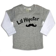 My baby WILL NOT be a hipster baby, babies with mullets are all wrong.