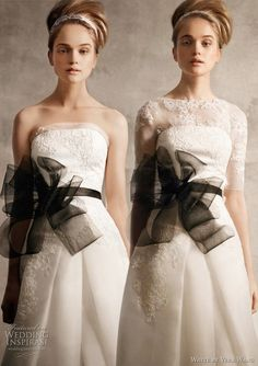 Dress by Vera Wang. Gotta love the lace overlay. I would hope the bow sash could be any color you wish.