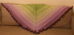 Das Muster heißt eigentlich Meereswellen ... aber es passt auch wunderbar zu dem Lavendel-Farbspiel