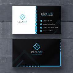 Blue and black geometric card Free Psd Minimalist Business Cards, Elegant Business Cards, Professional Business Cards, Business Card Logo, Business Card Design, Id Card Design, Visiting Card Design, Bussiness Card, Art Graphique