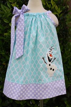 Frozen Olaf Pillowcase Dress