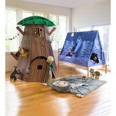 Discover endless imaginative play in our spacious Big Indoor Tree Fort! Cedar Playhouse, Pop Up Play, Play Teepee, Cedar Lumber, Cardboard Playhouse, Cardboard Design, Backyard Playground, Play Houses, Tree Houses