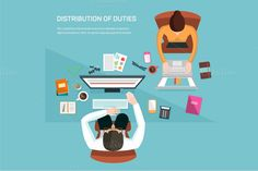 Illustration for office workers by VectorMarket on Creative Market