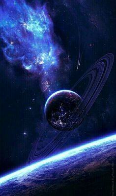 Space in Art astronomie Planets Wallpaper, Wallpaper Space, Wallpaper Backgrounds, Saturn Iphone Wallpaper, Mobile Wallpaper, Nebula Wallpaper, Space Backgrounds, Galaxy Space, Galaxy Art