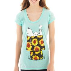 jcpenney | Peanuts Snoopy Short-Sleeve Burnout Graphic Tee