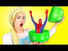 Spiderman, Elsa, Anna, Pink Spidergirl - Superheroes in Real Life - Surp. Spiderman And Frozen, Superman And Spiderman, Elsa Birthday Party, Elsa Anna, Egg Hunt, Elsa Frozen, Maleficent, Toy Story, Real Life