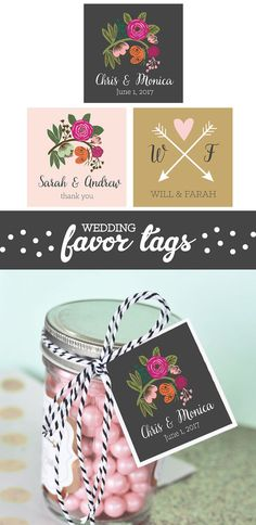Bridal Shower Favor Tags for a Kate Spade Party Theme - by Mod Party