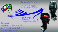 Logo e cartão de visita desenvolvido para Daco. Olha Q'Ideia no Chile gente!