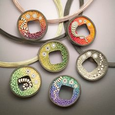 polymer clay pins/pendants
