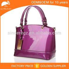 Office lady PU patent leather handbag 16SH-4752D