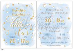 Προσκλητήριο βάπτισης twinkle little star Little Star, Twinkle Twinkle, Stars, Sterne