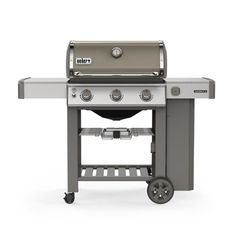 Weber Genesis II Propane Gas Grill in Crimson with Built-In Thermometer and Side Burner, Red Paint Steel Door, Steel Doors, Propane Gas Grill, Gas Bbq, Grill Grates, Weber Genesis, Genesis 2, Nebraska, Weber Gas Grills