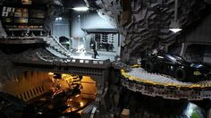 But he'd probably make Alfred assemble the entire thing. Weighing in at more than 20,000 LEGO pieces and over 100 pounds, this light-up Batcave diorama by Carlyle Livingston II and Wayne Hussey comes tricked out with the Batmobile, Batboat, Batcopter, Batwing, Batplane, and a few Batcycles for good measure. (It took 800 hours, so mint rides are a must.)