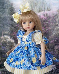 """**Sunshine** Dress, Outfit for 13"""" Dianna Effner Little Darling Dolls"""