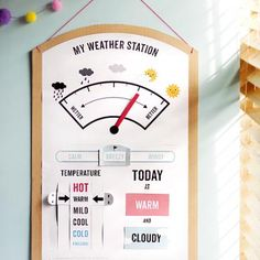 Printable Weather Station {Weather} http://www.mrprintables.com/my-weather-station.html