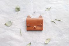 Fox portemonnee eenvoudige lederen kaarthouder