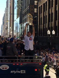 Anthony Rizzo,CHC//World Series victory parade in Chicago,Nov 4,2016