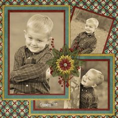 Great male colours and a gorgeous 3 photo layout.  Digital: Merry Christmas by Mommy To A Miracle