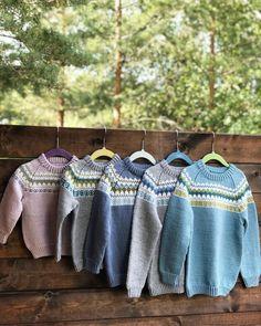 Sjekk DE tøffe fargene til Oskargenser - Knitting Inna Boys Sweaters, Knitted Hats, Wool, Knitting, Pattern, Kids, Fashion, Velvet, Young Children