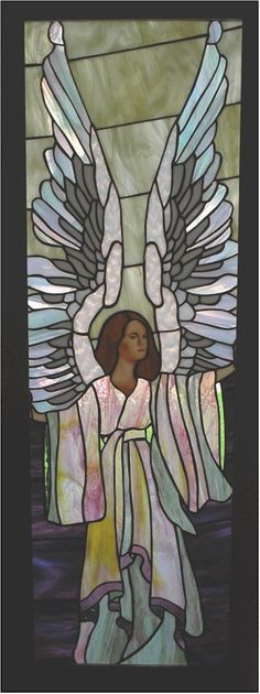.stained glass angel