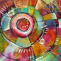 Rainbow Acrylic Painting Inspirational Art OOAK Original by Belinda Fireman Illustration Photo, Illustrations, Art Journal Inspiration, Painting Inspiration, Circle Art, Rainbow Art, Art Journal Pages, Art Journals, Altered Art