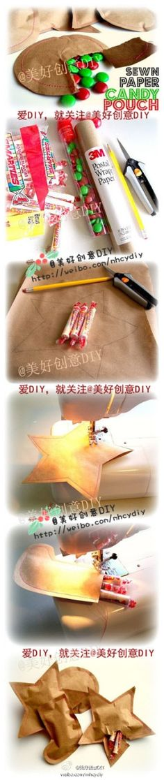 DIY Creative Paper Candy Pouch by diyforever