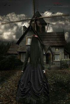 Gothic fairy tale scene