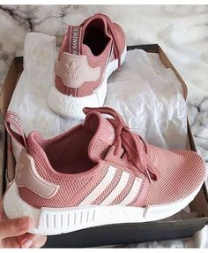 bb9212c0b Adidas NMD R1 Trainers In Raw Pink Light Pink Adidas Shoes