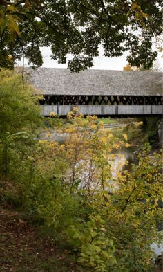 New England Covered Bridge.  Visit our YouTube page to see our New England Fall Foliage videos.