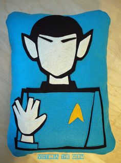 Want it! Some girls have Sean Cassidy Pillows...not me. I want Spock.