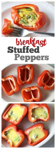 Breakfast Stuffed Peppers - delicious, easy and healthy breakfast option