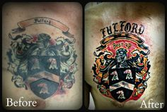 Chris' Re-do Family Crest.... He only had the original for 3 weeks!