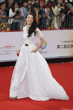 Zhang Ziyi in Alessandra Rich at the Beijing Film Festival Opening Ceremony