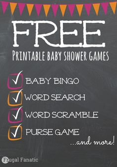 Are you hosting a baby shower? Check out these FREE printable baby shower games that your guest will enjoy. Includes baby bingo, word search, price is right and much more!