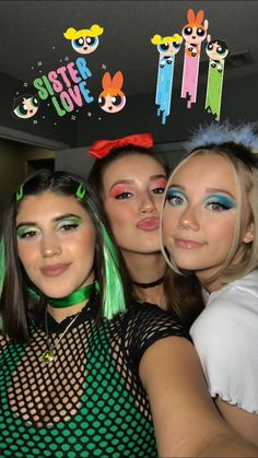 Powerpuff Girls Halloween Costume, Girl Group Halloween Costumes, Halloween Kostüm, Halloween Outfits, Sexy Halloween Costume Ideas, Trio Costumes, Fantasias Halloween, Halloween Disfraces, 3 D