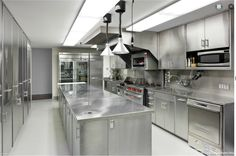 Industrial kitchen dream! I could do some damage here!!