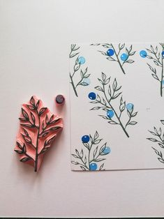 Mountain ash rubber stamp set, Forest berry twig, botanical art journa… - Rebel Without Applause Stamp Printing, Printing On Fabric, Journal D'art, Clay Stamps, Christmas Stationery, Stamp Carving, Fabric Stamping, Handmade Stamps, Montessori Materials