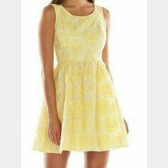 Lauren Conrad Medallion Lace Dress