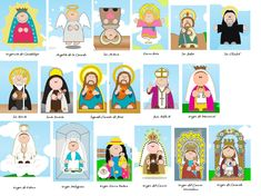 virgencitas y santitos All Saints Day, Holy Mary, Sign Language, Virgin Mary, Sunday School, Projects To Try, Family Guy, Clip Art, Scrapbook