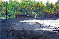 black sand beaches in Hawaii
